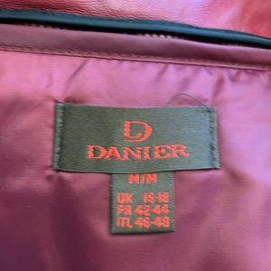 Danier Jackets & Coats - Danier Raspberry Red Leather Jacket